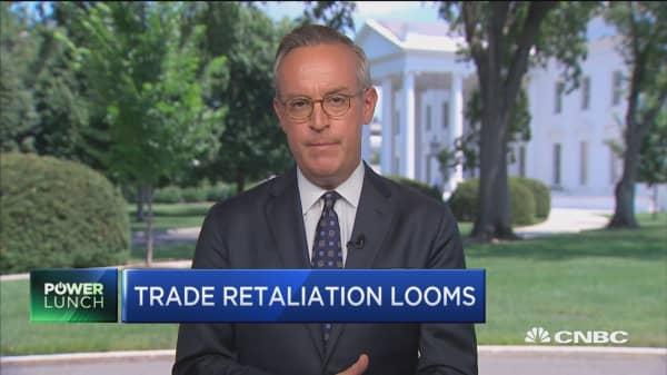 Trump reacts to retaliatory tariffs