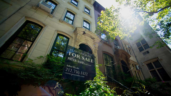 Manhattan Townhouses For Sale As Existing Homes Sales Figures Are Released