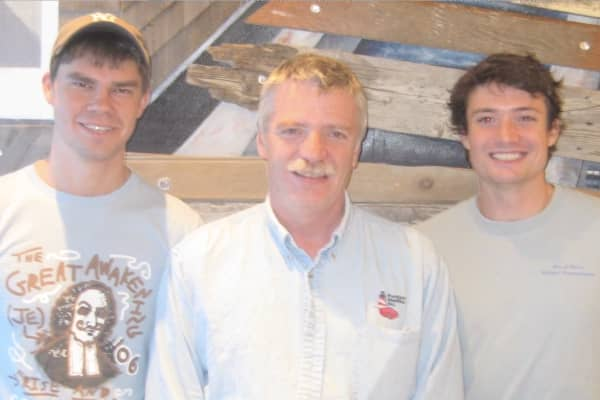 Luke's Lobster president Ben Conniff, early investor Jeff Holden and CEO Luke Holden (L to R) during the early years of Luke's Lobster.