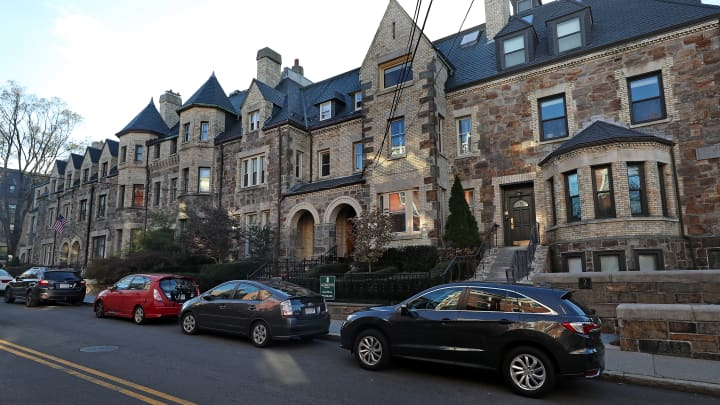 The median price of a home in Boston is more than 70 percent higher than the national figure. Here, the Beaconsfield Terrace town houses in Brookline, Massachusetts.