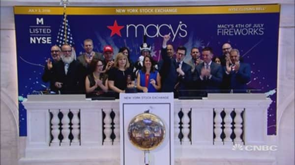 Macy's starts the Fourth of July holiday festivities at the NYSE