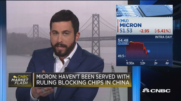 Micron: Haven't been served with ruling blocking chips in China