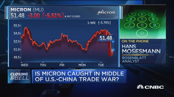 Is Micron caught in middle of US-China trade war?