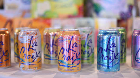 LaCroix Sparkling Water at the EcoLuxe Lounge in Park City, Utah.