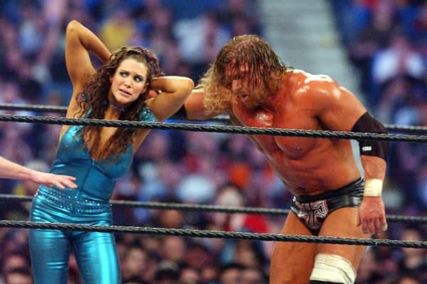 Stephanie McMahon and Triple H at Wrestlemania X8