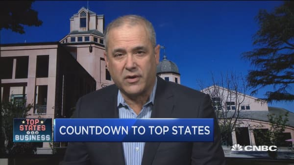 Countdown to CNBC's Top States for Business