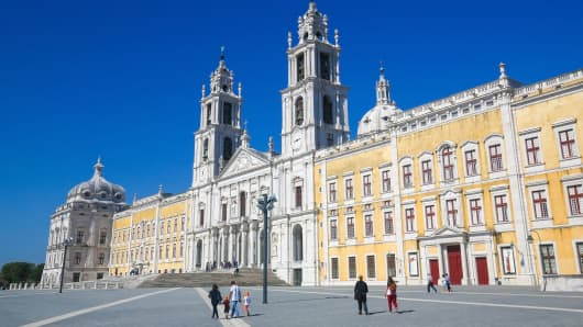 The Palace of Mafra, in Mafra Portugal.