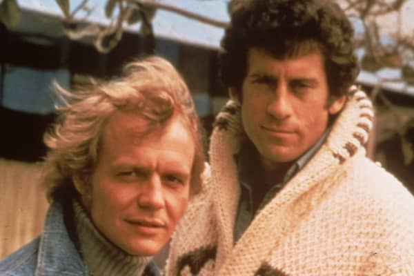 "David Soul and Paul Michael Glaser from ""Starsky and Hutch,"" circa 1977."