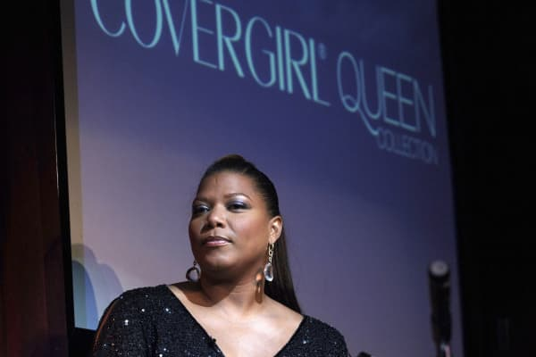 Musician Queen Latifah at the launch of her CoverGirl cosmetics line in New York City in September 2005