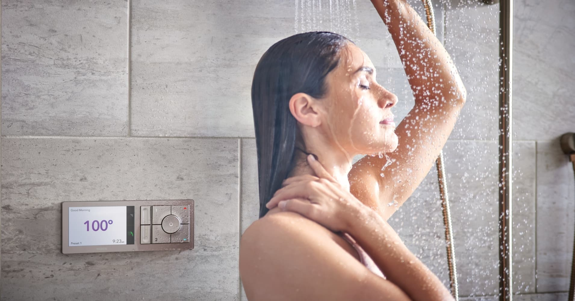 U by Moen shower system, which can connect with Amazon's Alexa voice assitant.