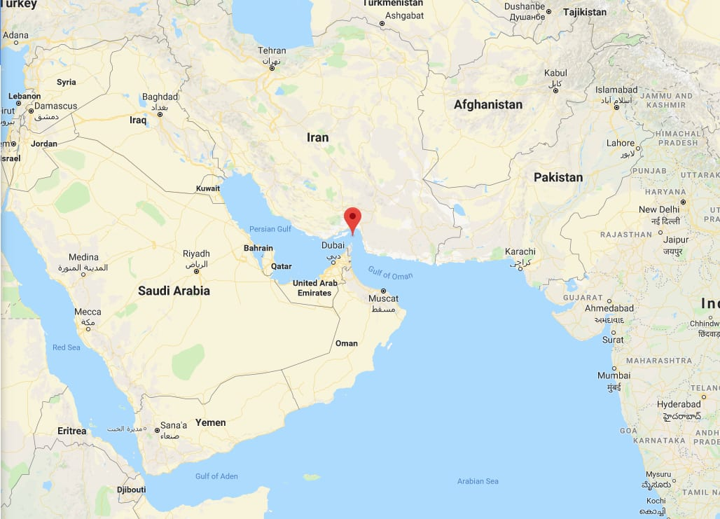 Middle East Map Strait Of Hormuz.Iran Threatens To Close Critical Transit Lane For Crude Oil