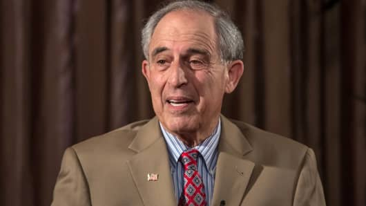 Lanny Davis, attorney and former Clinton political strategist, speaks during an interview last May.