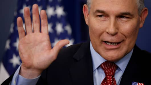Environmental Protection Agency (EPA) Administrator Scott Pruitt.