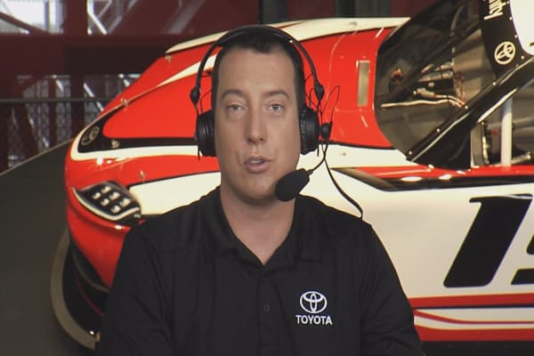 Kyle Busch discusses NASCAR and Toyota manufacturing in the US