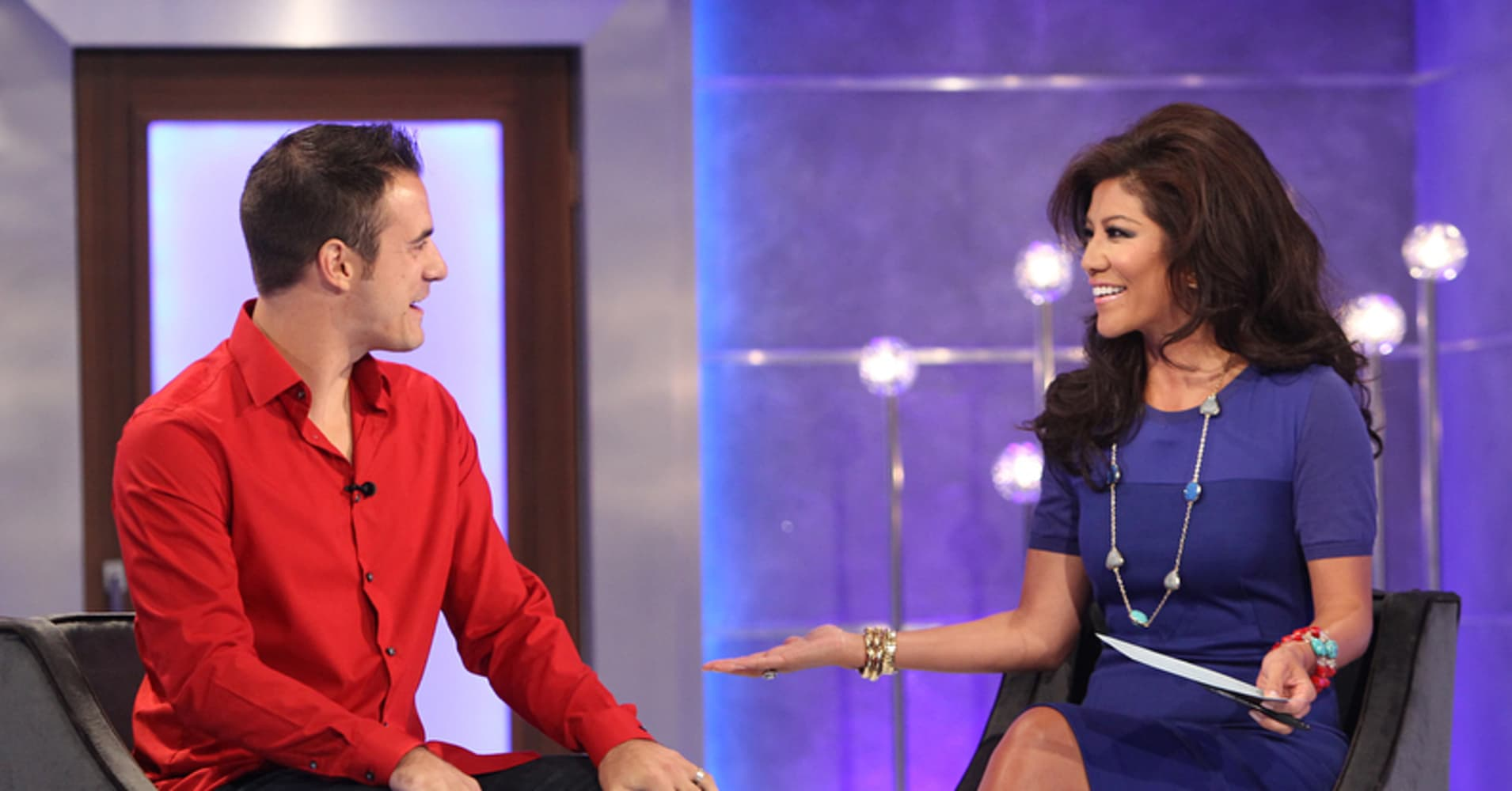 Host Julie Chen catches up with Big Brother 10 winner and Big Brother 14 runner-up Dan Gheesling on BIG BROTHER, Thursday, August 29, on the CBS Television Network