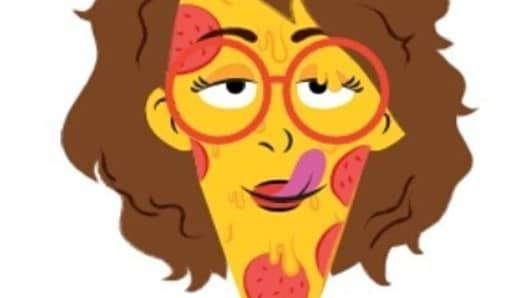 Daniel, reimagined as a pizza emoji