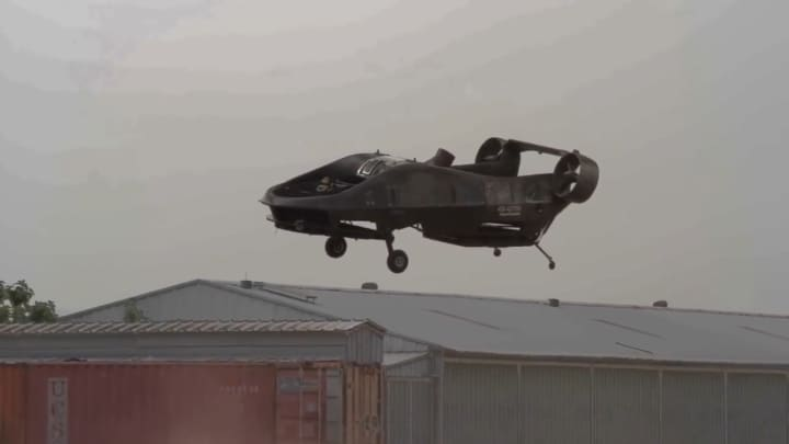 This drone can transport two wounded soldiers from battle where helicopters can't reach