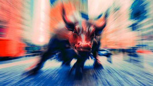 The Wall Street bull in New York.