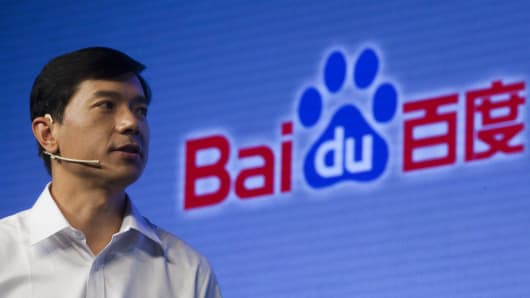 Robin Li, chief executive officer of Baidu Inc.