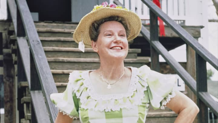 Tennessee native Minnie Pearl, American country comedienne and singer, poses in the 1970s.
