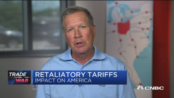 Governor Kasich criticizes Trump's trade policies