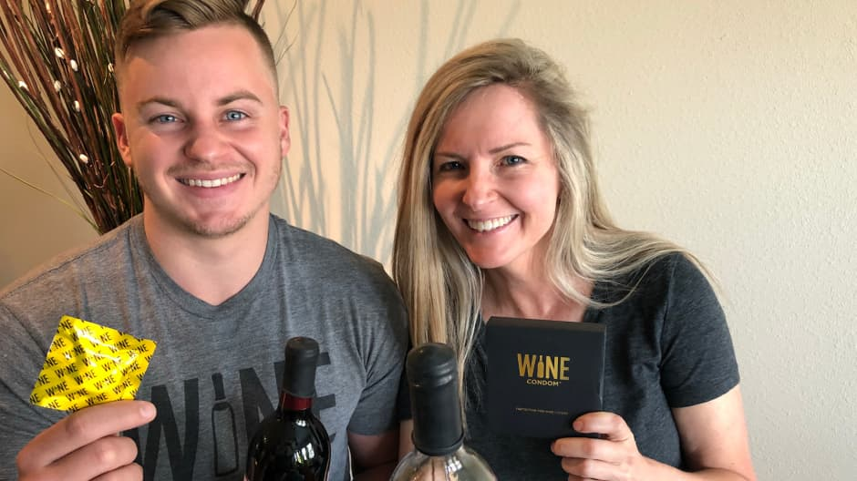 This mother-son duo sold more than $1 million worth of Wine Condoms