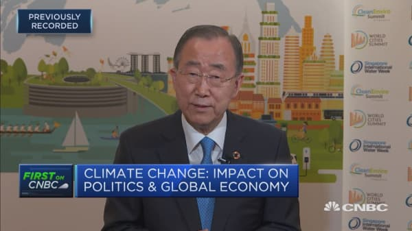 'We cannot negotiate with nature': Ban Ki-moon
