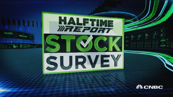 Results from Halftime Report's exclusive stock survey