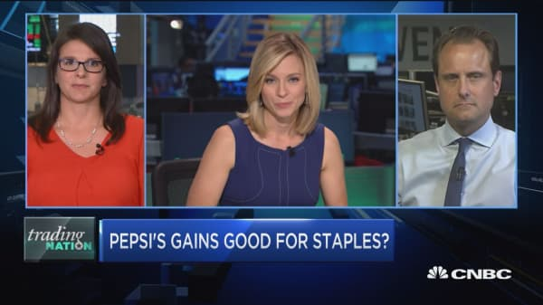 Trading Nation: PepsiCo's gains could be good for consumer staples