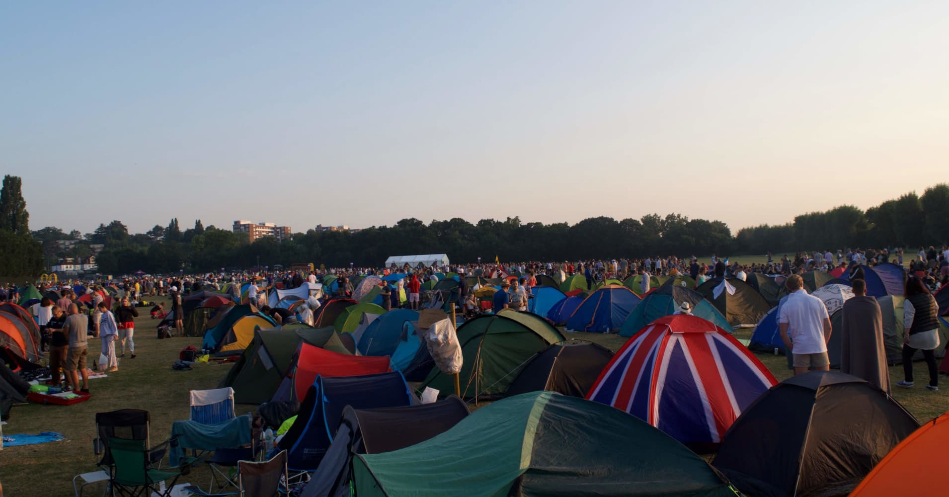 Thousands of people camp out to score premium Wimbledon tickets every year