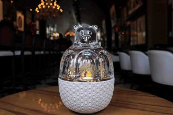 The Baccarat crystal bear costs $1,200