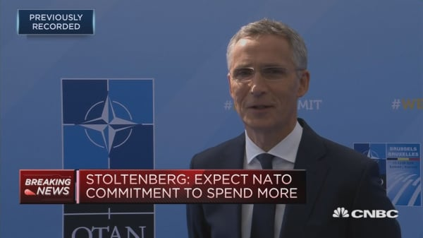 Fundamentally all allies agree, despite Trump's strong language, says NATO's Stoltenberg
