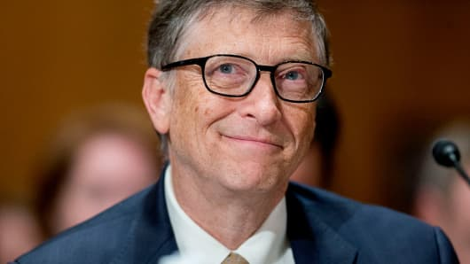 Bill Gates, billionaire and co-chair of the Bill and Melinda Gates Foundation,in Washington, D.C., U.S., on Thursday, March 26, 2015.