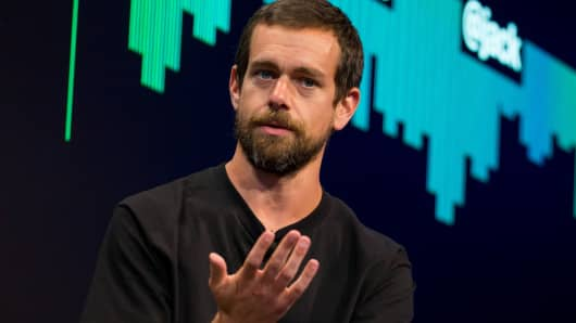 Jack Dorsey, co-founder and chief executive officer of Twitter Inc., speaks during an interview in New York, U.S., on Monday, May 1, 2017.
