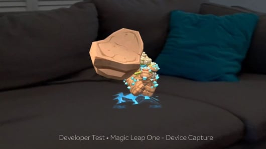 The Magic Leap gollum tossing a stone at you