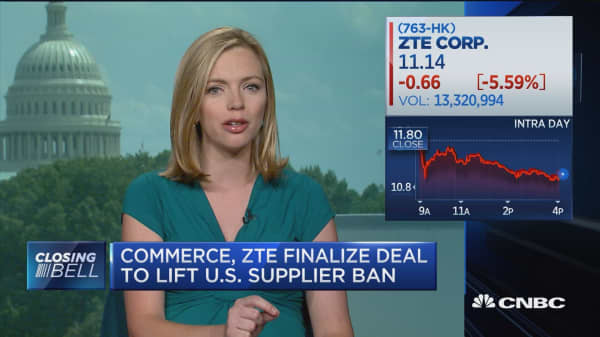 Commerce department signs off on last part of ZTE deal