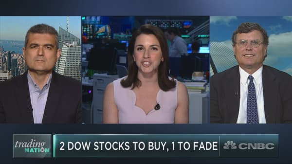 Two Dow stocks to buy and one to fade amid the market volatility