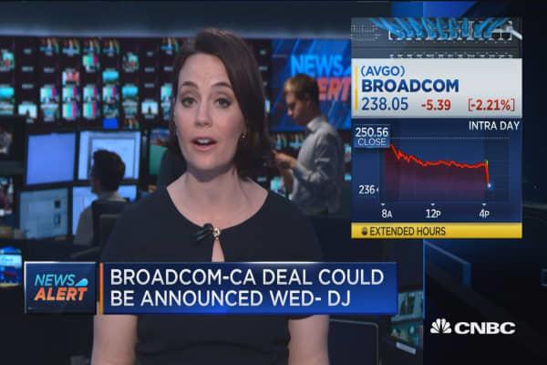 Broadcom Nears Deal To Buy CA Technologies For $18B: Dow Jones