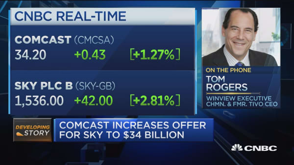 Sky is much more valuable to Comcast than Disney: Media excecutive