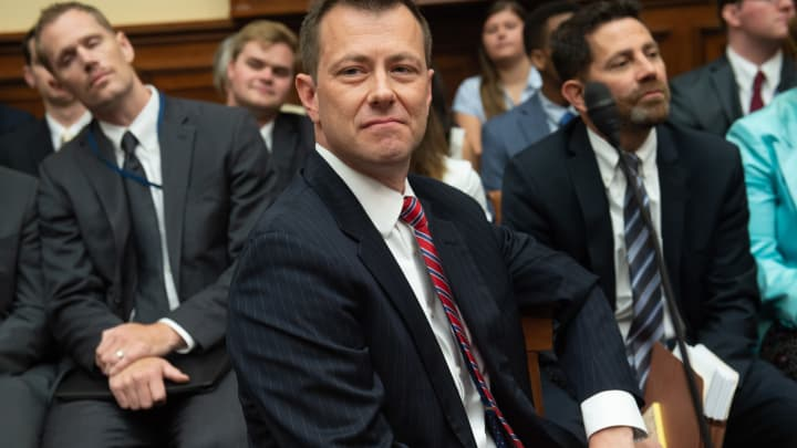 Deputy Assistant FBI Director Peter Strzok arrives to testify on FBI and Department of Justice actions during the 2016 Presidential election during a House Joint committee hearing on Capitol Hill in Washington, DC, July 12, 2018.
