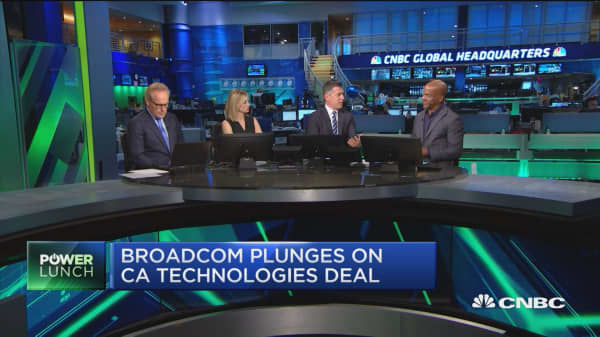 broadcoms stock plunges on ca technologies deal