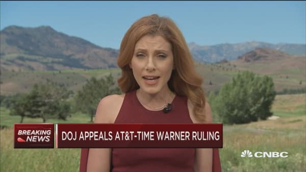 Dept. of Justice appeals Time Warner-AT&T ruling
