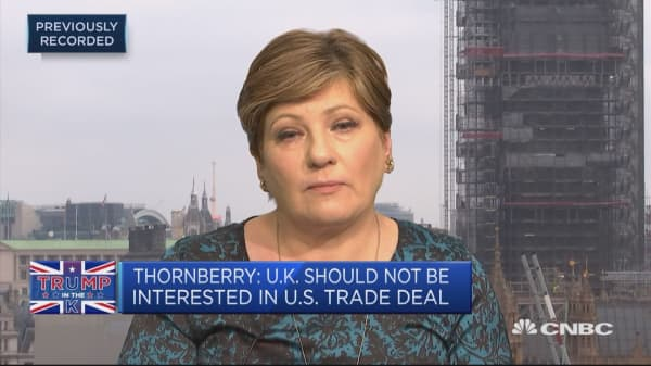 Thornberry: Feel sorry for Theresa May, furious with Trump's behavior