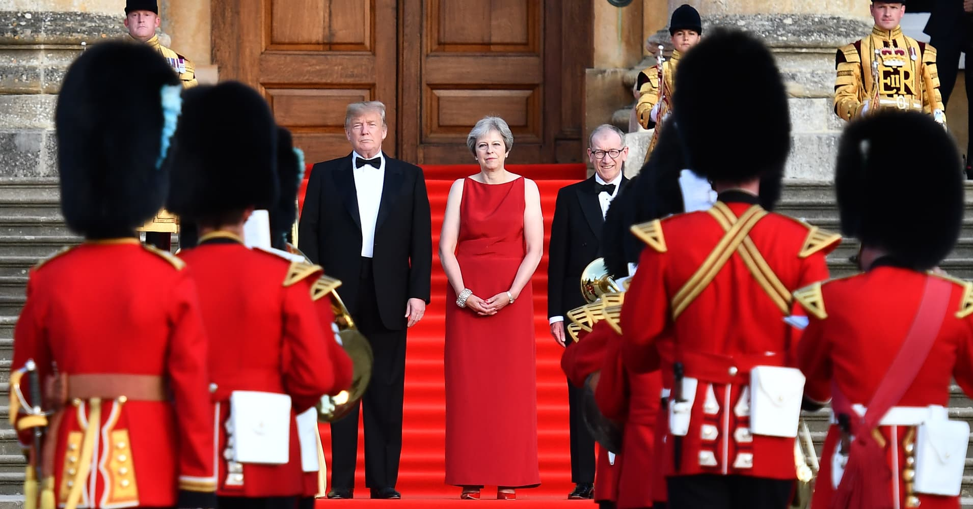 Even May's UK opponents are backing her against Trump