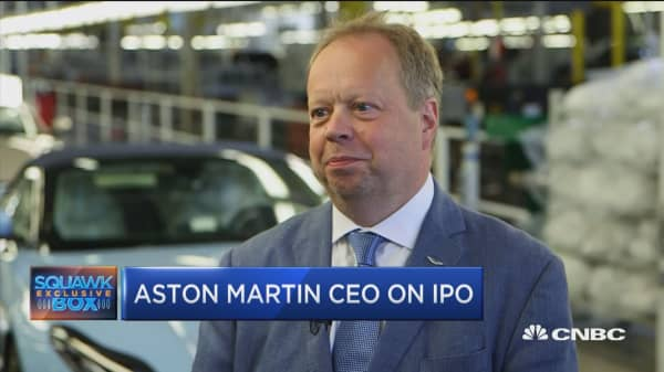 Aston Martin's CEO: What we really want is tariff-free borders