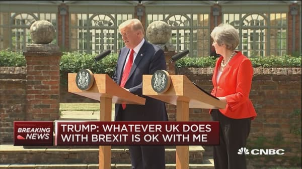 Trump to May: Whatever you decide to do with Brexit 'is ok with us'