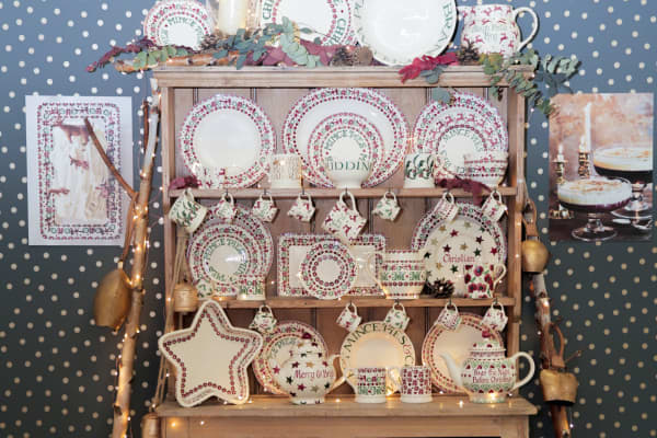 The Emma Bridgewater exhibition stand at the Christmas in July Festival in London, July 11 2018