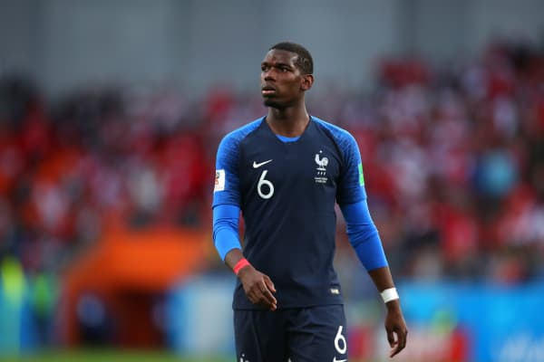Paul Pogba of France looks on during the 2018 FIFA World Cup Russia group C match between France and Peru at Ekaterinburg Arena on June 21, 2018 in Yekaterinburg, Russia.