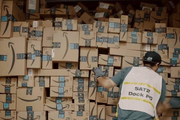 Amazon Prime Boxes Stacked