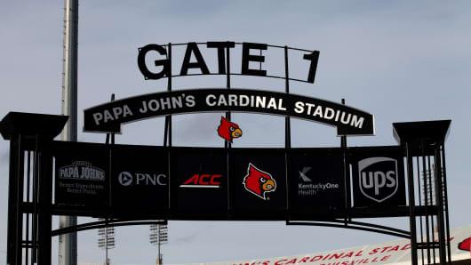 Papa John's Cardinal Stadium, home of the Louisville Cardinals football team on October 4, 2015 in Louisville, Kentucky.